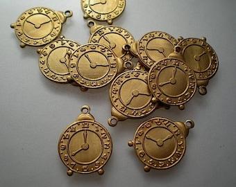 BULK 40 Alarm clock antique silver tone P199