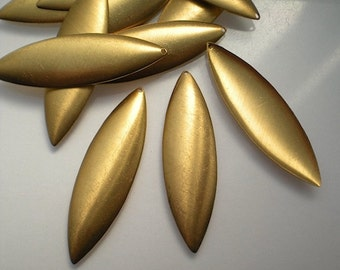 12 large domed brass marquise/petal stamping blanks