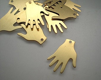 12 flat brass hand stamping blanks