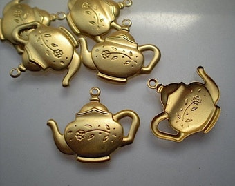 6 brass teapot charms