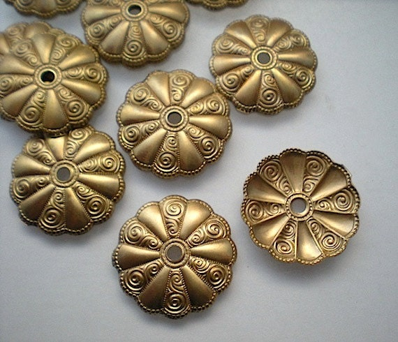 12 Brass Mirror Rosettes No 15, How To Use Mirror Rosettes