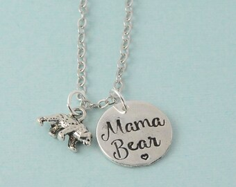 Mama Bear Necklace / Mama necklace / Mother bear necklace