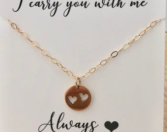Miscarriage necklace etsy double miscarriage necklace infant loss jewelry heart necklace sympathy gift gold heart necklace twin loss aloadofball Images