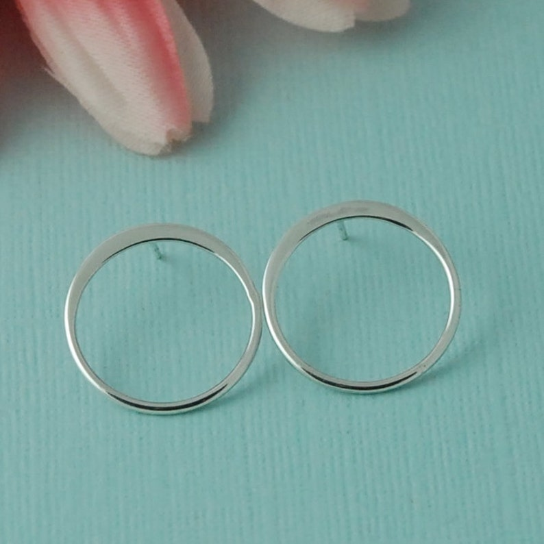 Sterling Silver Open Circle Post Earring