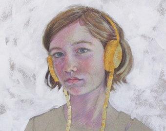 Gold Headphones 4