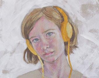 Gold Headphones 3