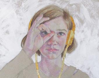 Gold Headphones 2