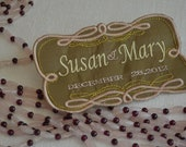 gay and lesbian LGBT Wedding Labels for Wedding Gown or Suits - Embroidery Custom Created on Silk Fabrics