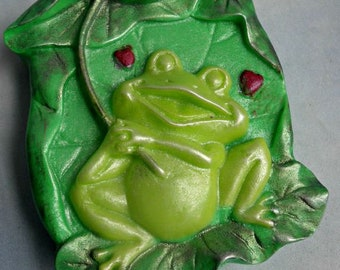 Frog Soap Ribits and Raindrops