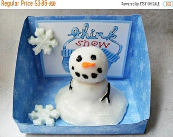 SALE 30% OFF Melting Snowman Soap Handcrafted