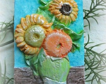 SALE 30% OFF Sunflowers Soap Vincent Van Gogh Soap