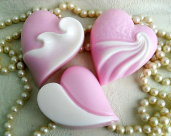 Art Deco Heart Hand crafted Soap