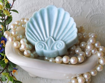 Fleur De Lis Shell Soap with Aloe