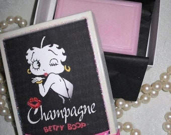 SALE 30% OFF Betty Boop Pink Champagne Soap
