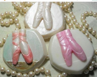 SALE 30% OFF Ballet Slippers Hand Ccrafted Soap