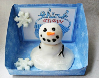 Melting Snowman Soap Handcrafted