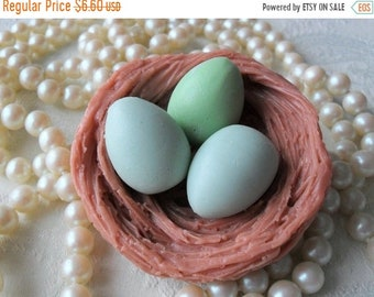 SALE 30% OFF Handcrafted Soap Eggs in nest Soap