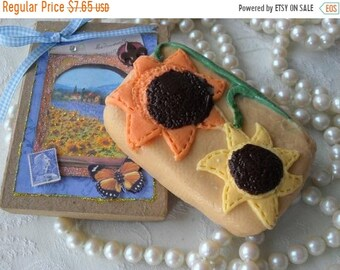 SALE 30% OFF Sunflowers Handcrafted Soap