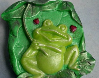 SALE 30% OFF Frog Soap Ribits and Raindrops