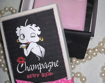 Betty Boop Pink Champagne Soap