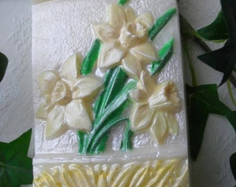 SALE 30% OFF Daffodil Handcrafted  Glycerin Soap