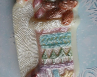 Hand Painted Soap Christmas Stocking Soap