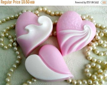 SALE 30% OFF Art Deco Heart Hand crafted Soap