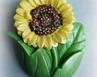 SALE 30% OFF Small Sunflower Soap in Tin