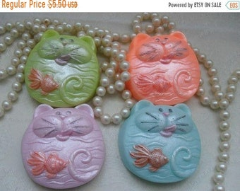 SALE 30% OFF Funny Cat Soap Cat and fish soap Hungry Henry Cat Soap