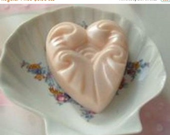 SALE 30% OFF Ruffled Heart Handcrafted Soap