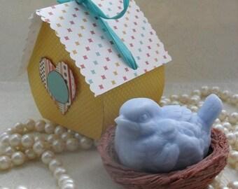 SALE 30% OFF Blue Bird in Nest Soap