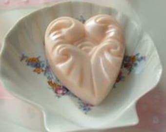 Ruffled Heart Handcrafted Soap