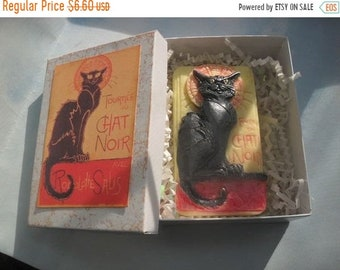 SALE 30% OFF Chat Noir Black Cat Soap