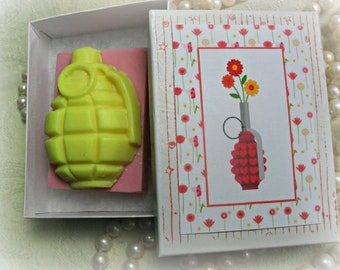 F Is for Flowerbomb Soap F Bomb Soap Grenade Soap