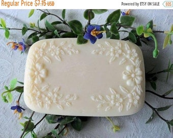 SALE 30% OFF White Satin Handcrafted Soap with Aloe and Buttermilk