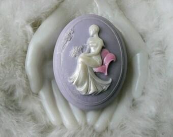 Handcrafted Aloe Soap Marilyn Cameo Soap