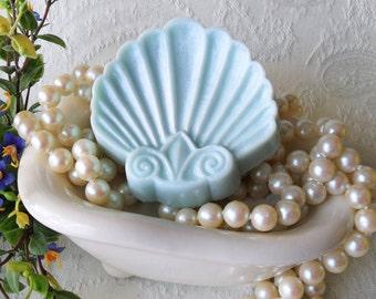 Fleur De Lis Shell Soap with Aloe