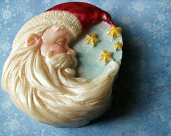 Starlight Santa Handcrafted Hand Painted Soap