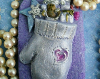 Mitten Full of Toys Handcrafted Soap