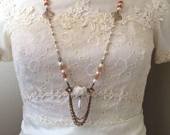 Upcycled Necklace - Victorian Necklace - Old Fashioned Necklace - Repurposed Necklace