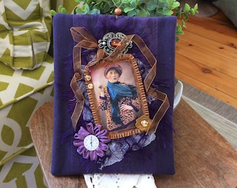 Purple Wall Hanging - Vintage-style Wall Hanging - Vintage Lady Wall Hanging