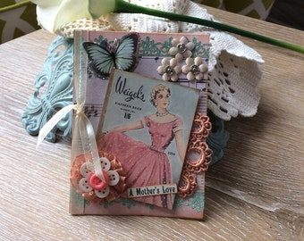 Handmade Mother's Day Card - Handmade Card Mom - Old Fashioned Mom Card