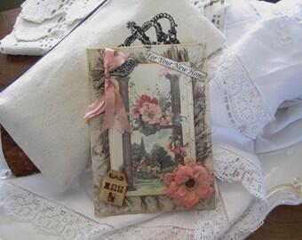 New Home Card - Congrats New Home - Handmade Card