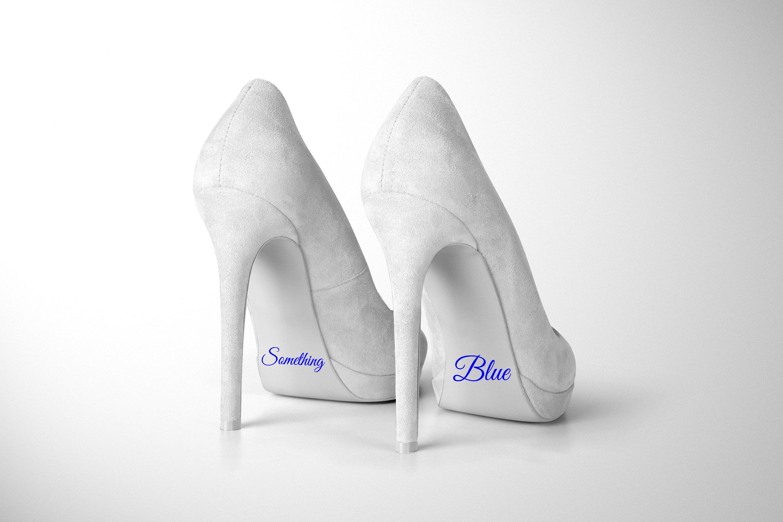 Something Blue Bride Wedding Shoe Decal Removable Novelty Etsy