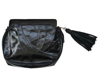 MARLIE Leather Tassel, Purse Tassel, Bag Charm, Handbag Charm, Leather Tassel, zipper pull,  stocking stuffer, metallic pink tassel