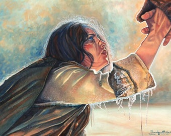 Forgiveness- A painting after the movie The Passion