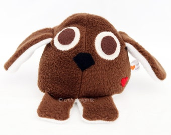 CLEARANCE SALE Puppy Dog - Whee One - Stuffed Animal - Brown - Stuffed Toy In Stock and Ready to Ship