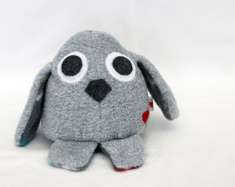 CLEARANCE SALE Grey Puppy Dog Stuffed Animal Plushie In Stock and Ready to Ship