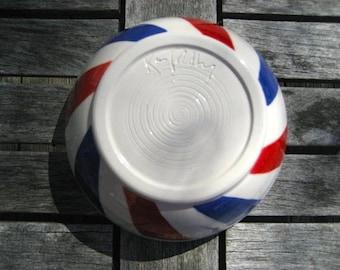 barber pole shaving bowl