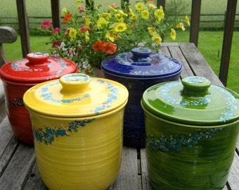 colorful canisters